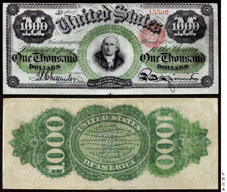 Large Size United States Notes - 1000 dollars